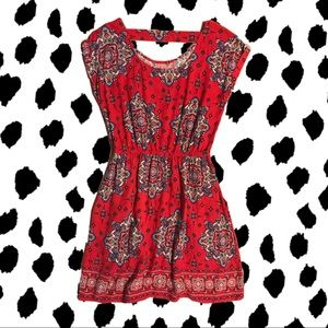 Red pattern dress